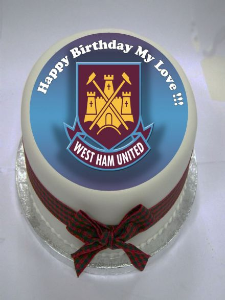 West Ham Edible Cake Topper